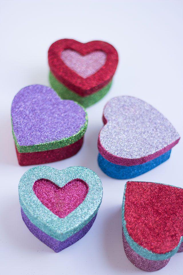 Paper Mache Craft Ideas For Kids Part - 22: Glittered Paper Mache Boxes