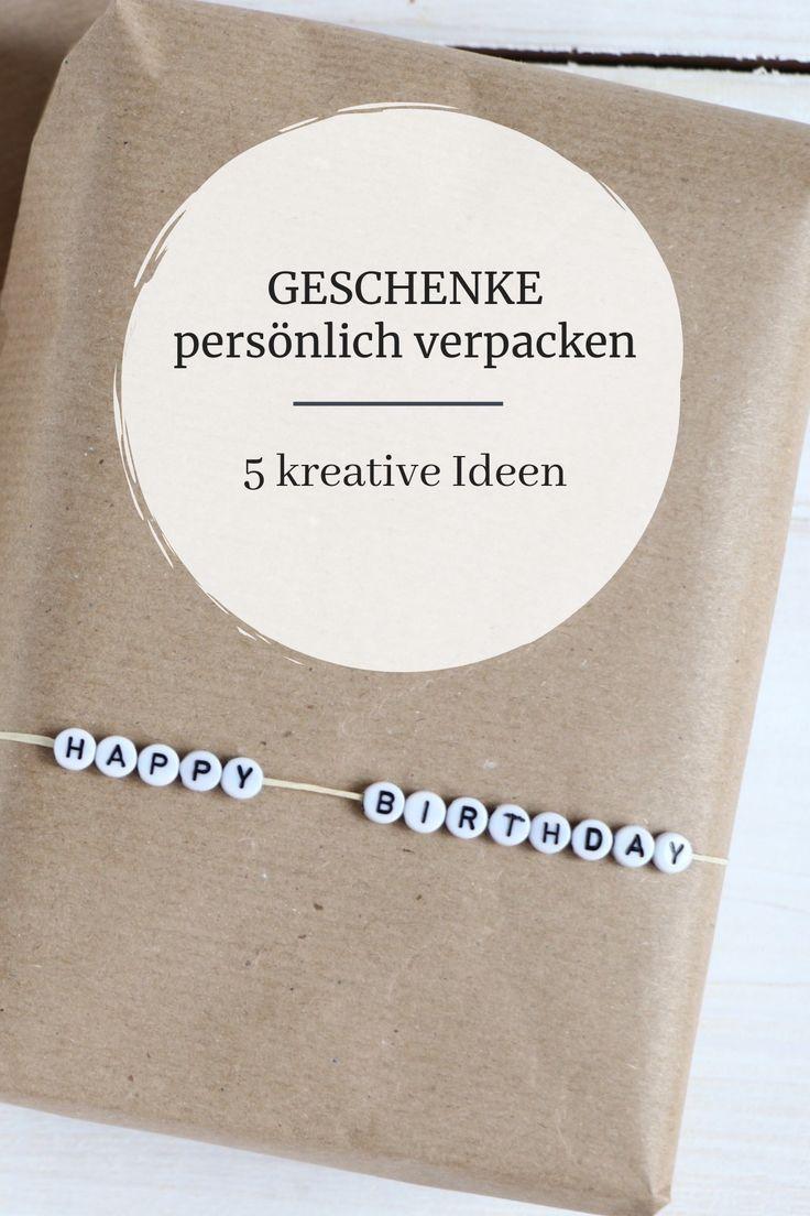 Geschenke verpacken: Ideen mit Packpapier