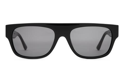 The YG Loc - Gloss Black Acetate - w/ Grey CR-39 Lenses - Sunglasses
