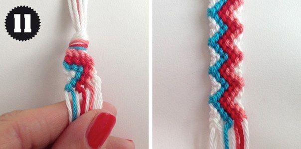 como hacer una pulsera de hilo paso a paso (6)