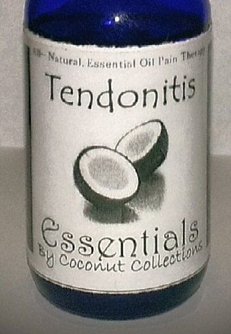 Tendonitis, Pain Relief Massage Oil, a natural aide for hurting tendons like in the hands, wrist, arms, elbows. Easily kept in your bag.