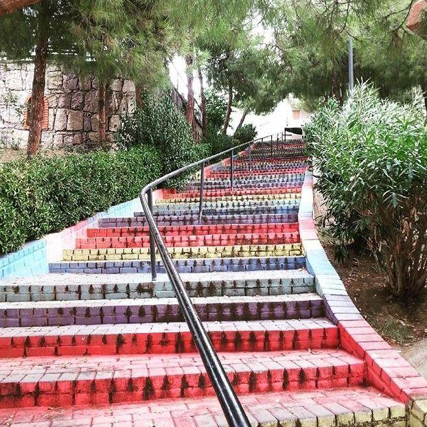 Una scala colorata