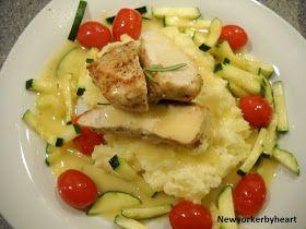 Newyorkerbyheart: Kyllingebryst med hvidløgskartoffelmos, stegt squash og vinsky (Spis Bedre nr. 11/2011)..........