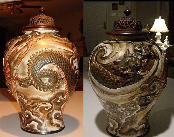 Satumra Japanese Vase Asian Vase Japanese Pottery