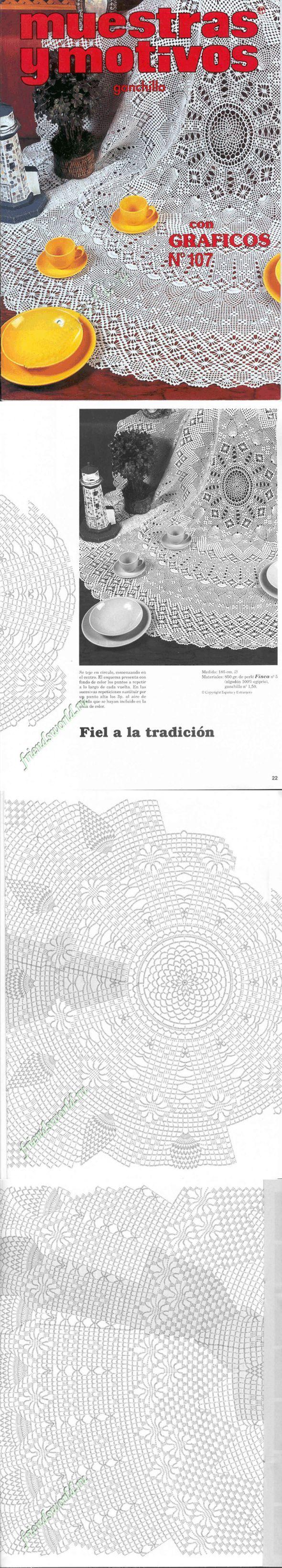 МОИ ПЕТЕЛЬКИ: Muestras y Motivos ganchillo №107 салфетки, скатерти, занавески, покрывала...<3 Deniz <3