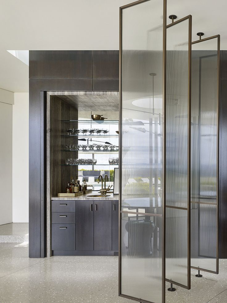 Mirrored Bar and Glass partitions.  ~ Great pin! For Oahu architectural design visit http://ownerbuiltdesign.com