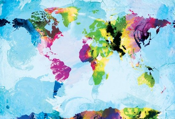 One Colourful World canvas