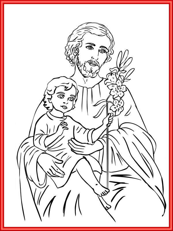 St. Joseph Catholic Coloring Page