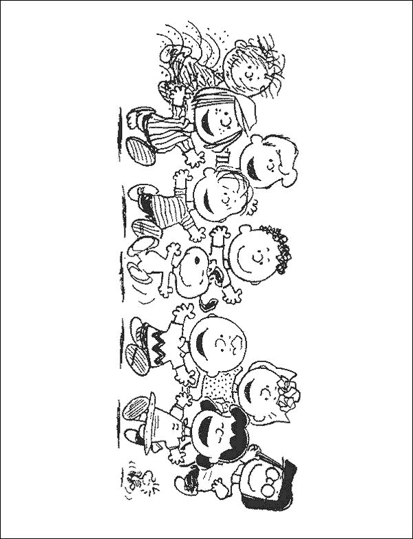 peanuts christmas coloring pages peanuts gang coloring page snoopy charlie brown - Peanuts Characters Coloring Pages