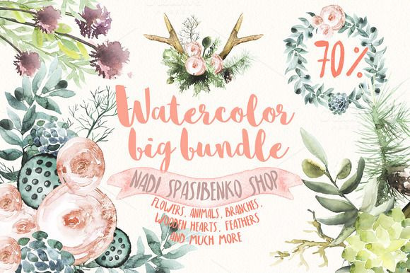 The promotion is valid for a limited time! What is included in this package? This package includes 10 products ( watercolor flowers and floral patterns) in my shop Click the link and find