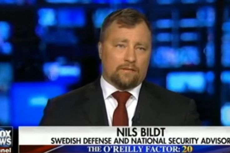 Nils Bildt - who is unknown to Swedish authorities and also has a criminal conviction in the US - was billed by Conservative American television station Fox News as a Swedish Defense and National Security Advisor.