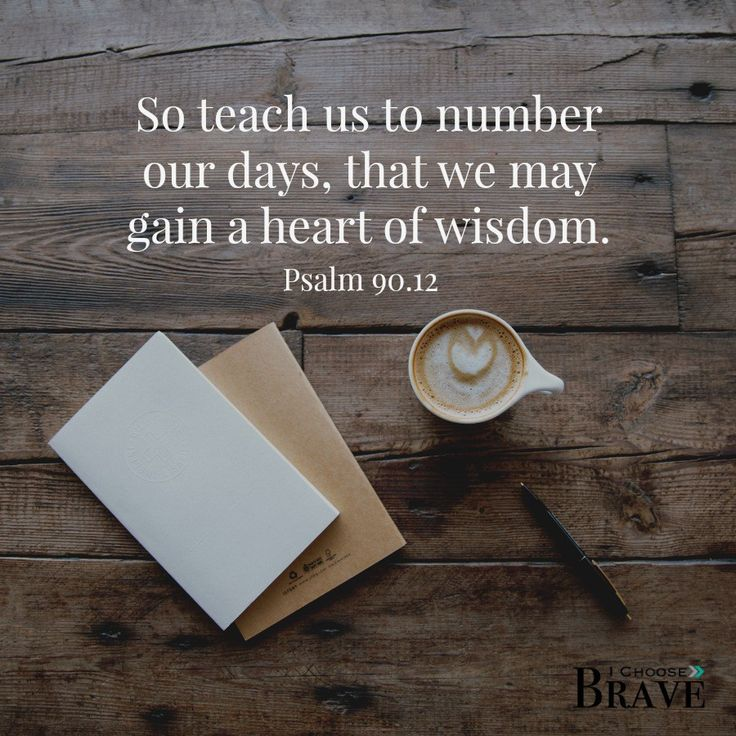 What does it even mean to number our days?  How do we live in light of eternity?  Hope for learning to live our days well.