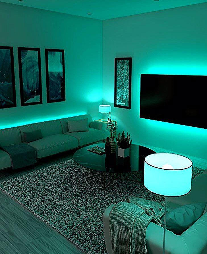 Renijusis Led Pour Chambre Fauteuil A Oreille Canape D Angle Scandinave Vente Unique Cana Scandinavian Corner Sofa Led Strip Lights Bedroom Strip Lighting