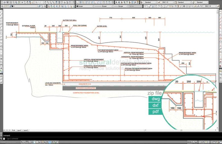 The 20 best rimflow images on pinterest pool - Swimming pool construction details pdf ...