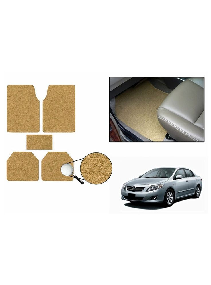 True Vision Car Anti Slip Noodle Floor / Foot Mats Set of 5 Beige For Toyota Corolla Altis Type 2  - 2014-2015 |  | | https://shopping.acchajee.com/55703-true-vision-car-anti-slip-noodle-floor-foot-mats-set-of-5-beige-for-toyota-corolla-altis-type-2-2014-2015.html