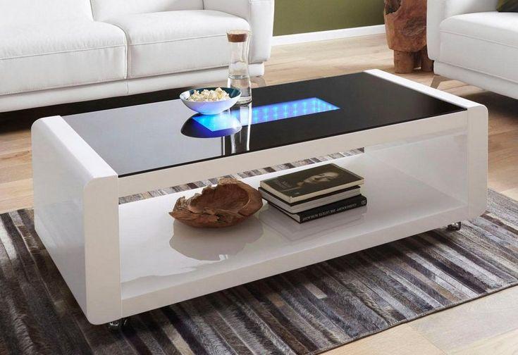 Couchtisch mit 3D-LED-Beleuchtung, auf Rollen für 329,99€. 5,8 cm starke Tischplatte, FSC®-zertifizierter Holzwerkstoff, Pflegeleichte Oberfläche bei OTTO