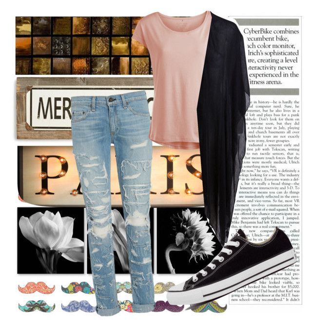 Untitled #18 by liebelievedie on Polyvore featuring polyvore, fashion, style, Pieces, rag & bone, Converse, Poncho & Goldstein, Monde Mosaic and clothing