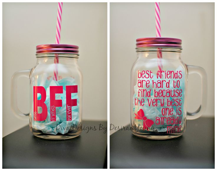 Custom Best Friend Mason Jars Bff Gifts Presents For
