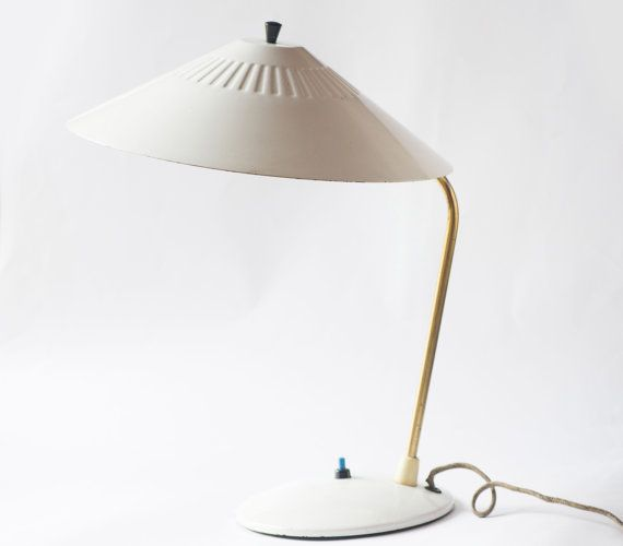 Modern desk lamp vintage winter white retro desk lamp by SovietEra, $38.00