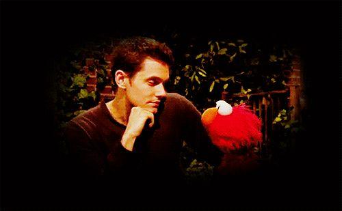 John Mayer + Elmo =  Fofura no nível MASTER
