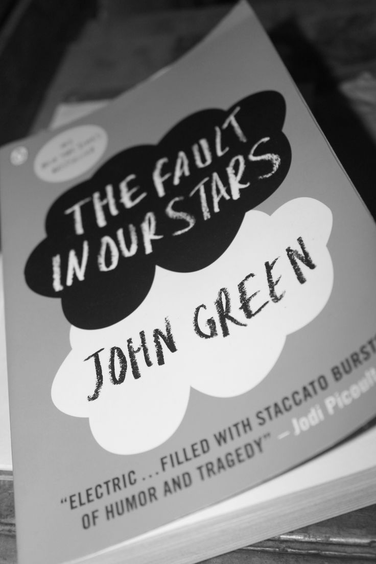 Completed reading 'The Fault In Our Stars'. #TFIOS #JohnGreen #AmazingBook #Monochrome