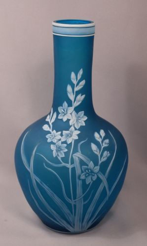 Thomas Webb cameo glass vase