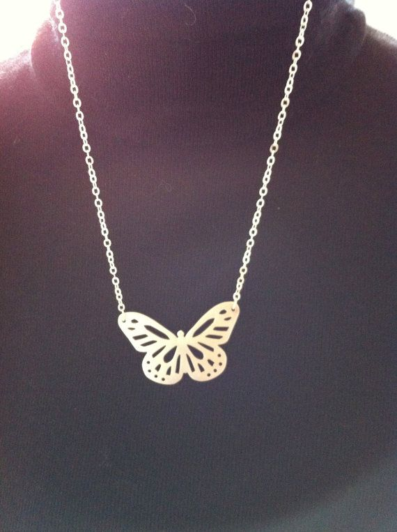 Sterling Silver Butterfly Necklace by BabblingBee on Etsy, $70.00