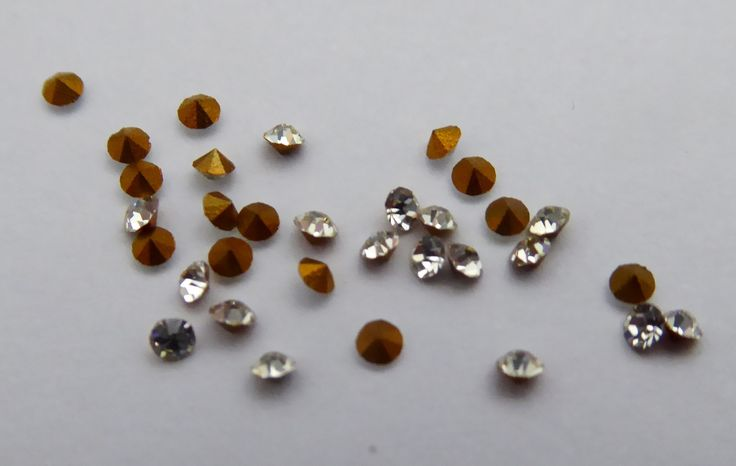 10 Original Antique Austrian Late 1800s Ex Jewelers Faux Diamond Crystal Pastes - The Collectors Bag