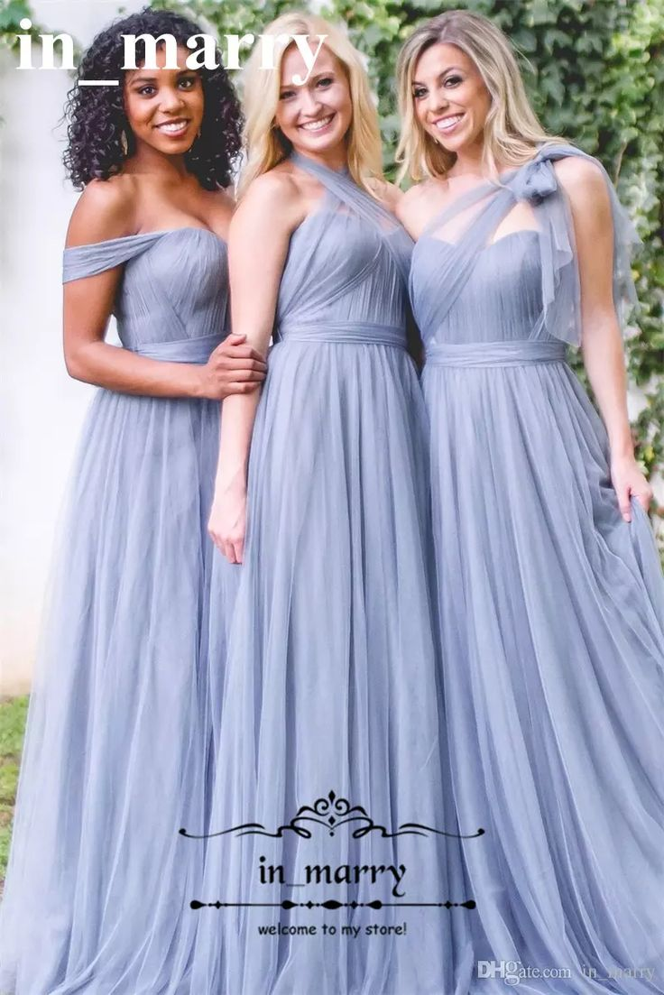 79 best bridesmaids dresses images on pinterest bridesmaid plus size ice blue long country bridesmaids dresses 2017 a line mix styles tulle beach wedding guest party gowns cheap maid of honors ombrellifo Gallery