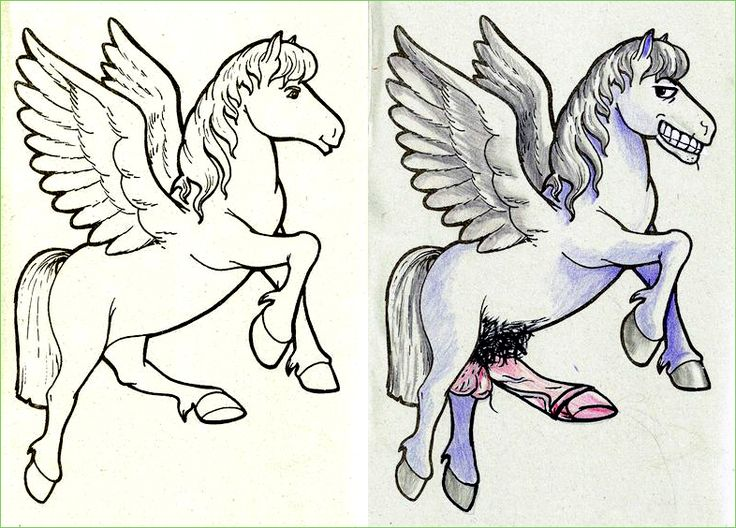 The Majestic Pegasus Is Um Uh Good Lord Reddit User BourbonFox Created This Sleazy Character