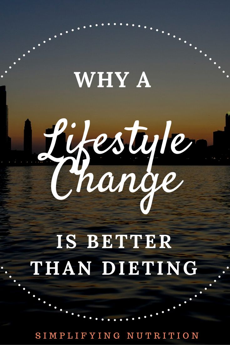 By making a lifestyle change—instead of dieting—you can achieve long-term weight loss, plus develop a healthy relationship with food.