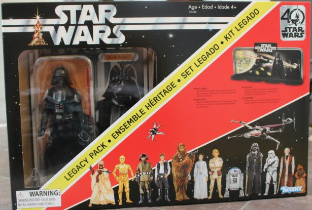 Figures and Speech: STAR WARS 40th Anniversary Legacy Pack With Darth Vader #starwars40th #actionfigure #DarthVader #toys #collector #collectibles #legacy #actionfigures