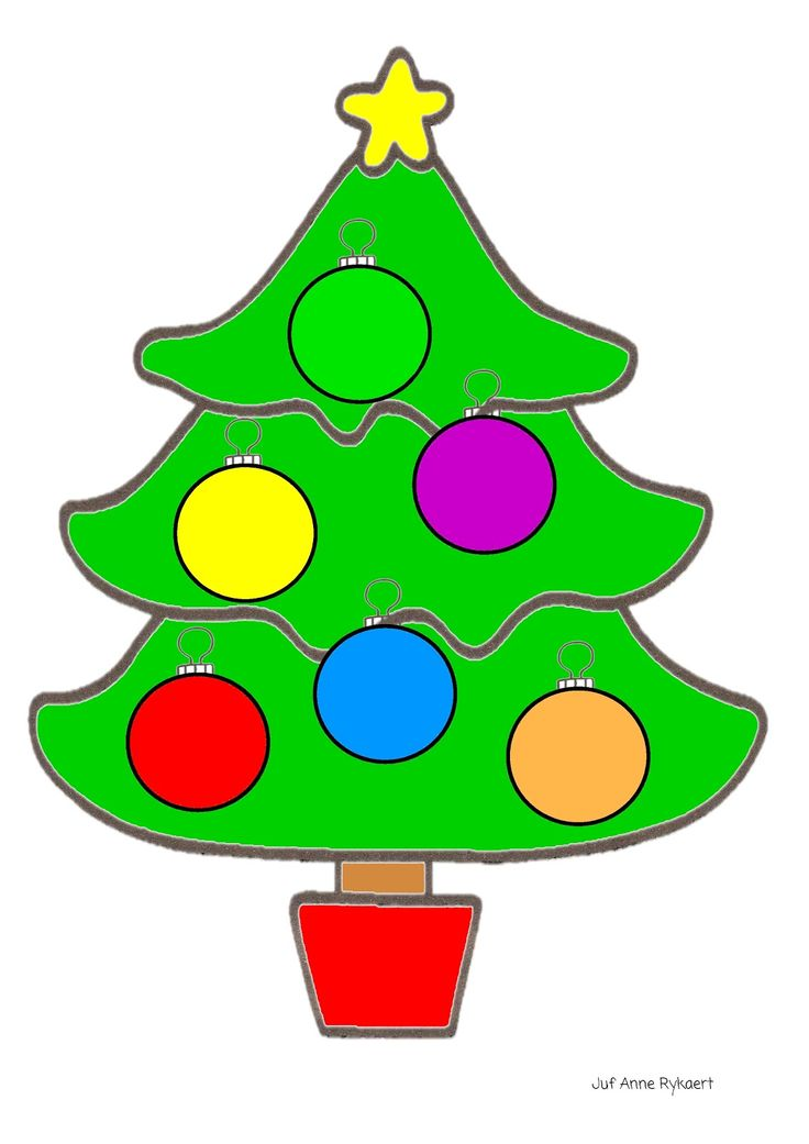 Kleurenspel: Gooi met de kleurendobbelsteen en hang de juiste kerstbal in de kerstboom