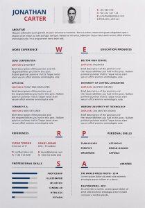 Emske modern resume template design
