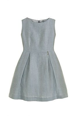 Herringbone Dress – Cool Grey. This beautifully cut dress has an enduring appeal. Refined yet understated elegance – a Little Wardrobe signature look. Outer: 44% Silk, 56% Linen. Lining: 100% Polyester. Trim: 100% Nylon. Gentle Dry Clean only.