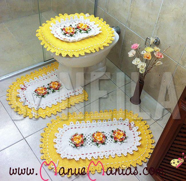 Jogo De Banheiro Amarelo Com Vermelho : Melhores imagens sobre jogos de banheiro no