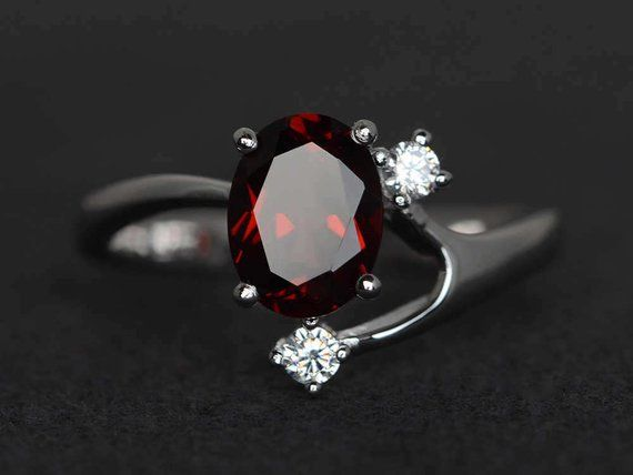 Anniversary Ring,925 Sterling Silver Ring,Typical Handmade Ring Gift For Her,Gift Ring Wedding Ring Garnet Ring Engagement Ring