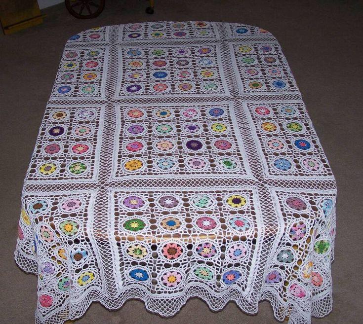 44 best Crochet Tablecloths images on Pinterest   Crochet doilies ...