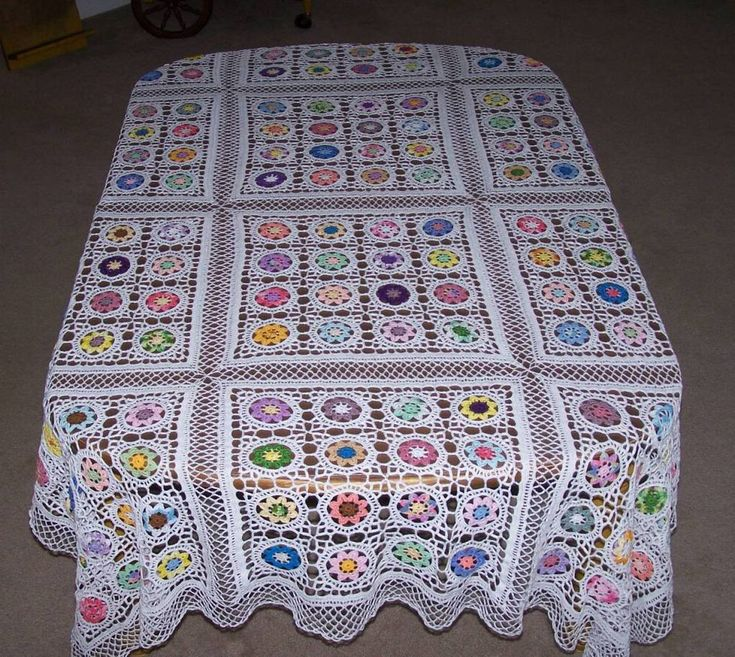 Crochet Motifs Free Patterns Crochet Tablecloth Patterns
