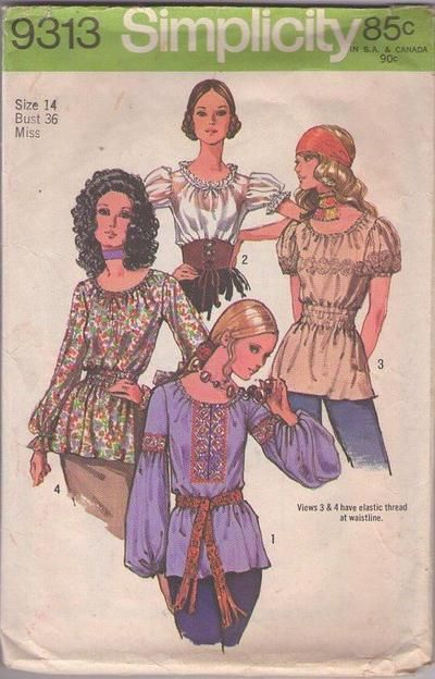 Pattern For Peasant Blouse