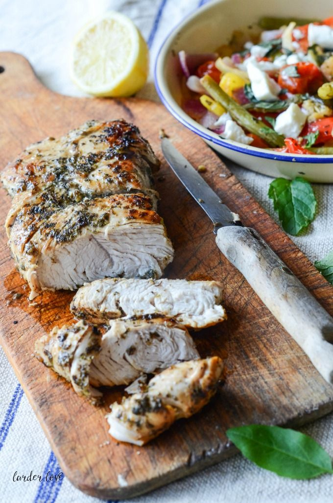 27 best good mood food images on pinterest 3 ingredients easy a quick and easy recipe for greek style turkey with a warm salad and couscous by forumfinder Gallery