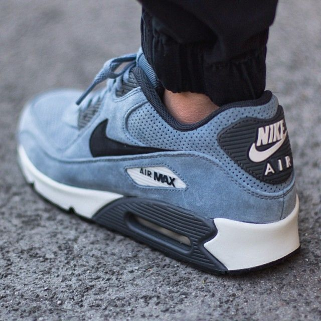 2f10f762527200 Nike Air Max 90 Leather Premium Blue   Graphite  sneakers  nike  airmax