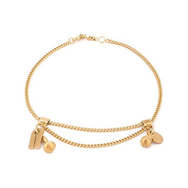 The summer is creeping up on us, along with the opportunity to invest in a new array of seasonal accessories. We're currently coveting this gorgeous, gold-tone anklet from the @chloe S/S16 collection, adorned with minimalist charms that resemble industrial fastenings. Available @brownsfashion (Head to anothermag.com now for our exploration of the anklet's visual history) 🔆 #anotherloves #chloe #jewellery #anklet #90s