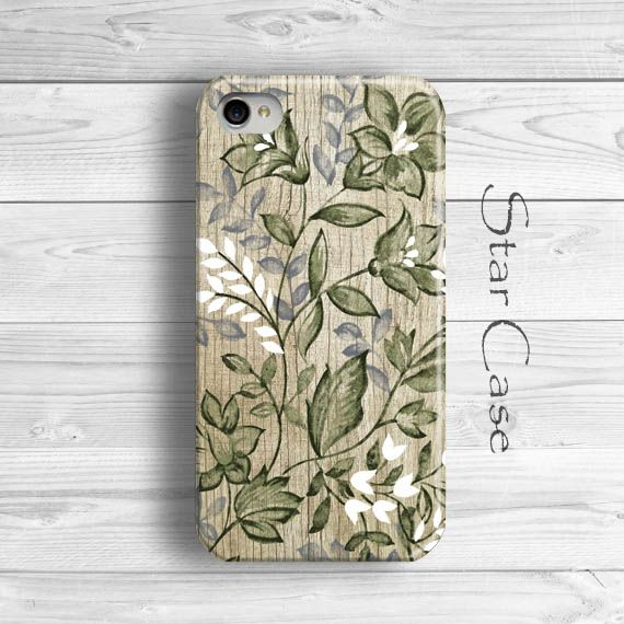 iPhone 5 Case, Wood Print iPhone 5s Case, Floral iPhone 4 Case Flowers iPhone 4s Case Wooden Cute iPhone 6 Case Girly Pretty iPhone 5C Case by Star Case