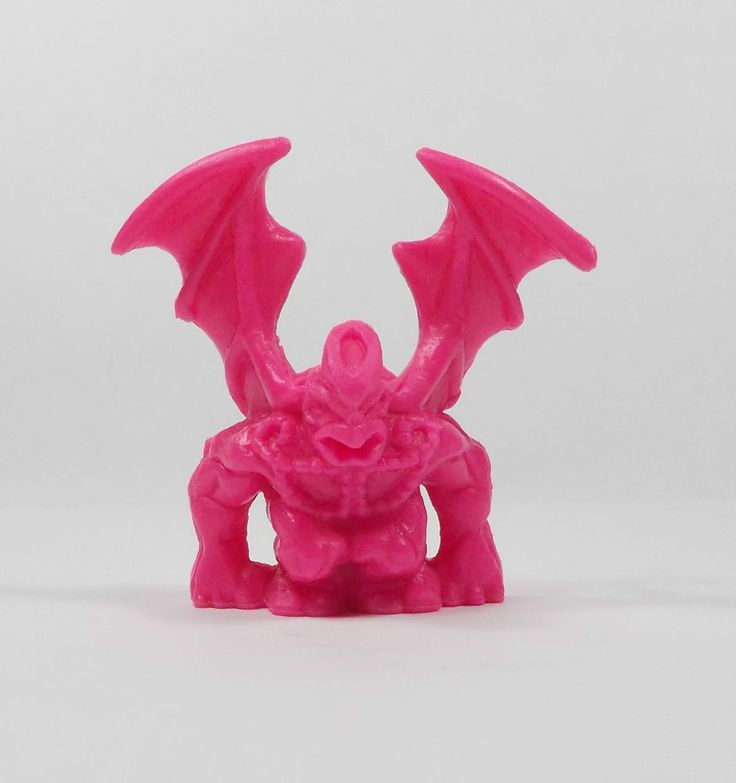 Monster In My Pocket - Series 2 - 72 Gargoyle - Neon Magenta - Mini Figure
