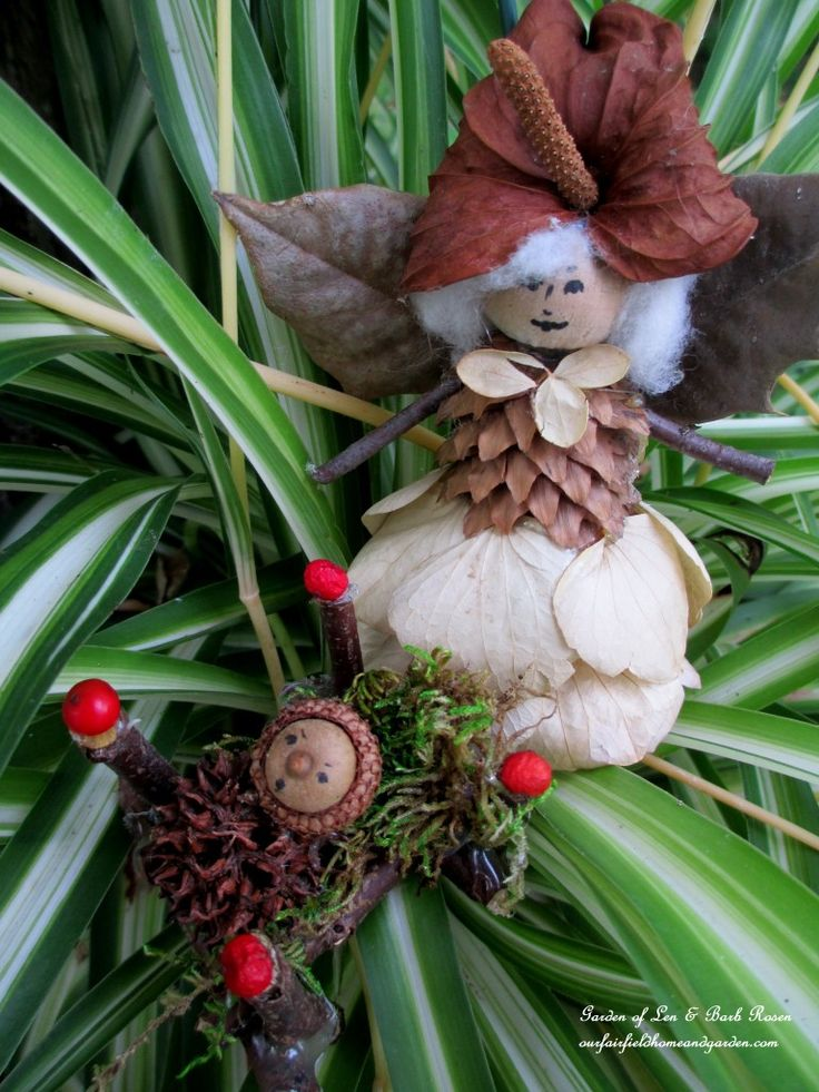 Barb Rosen's Mother & Baby Fairies, DIY over at Our Fairfield Home & Garden... http://ourfairfieldhomeandgarden.com/diy-project-fairies-for-free/
