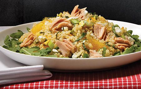"""Orange Basil Tuna Quinoa Salad - Giveaway: """"Everyday Gourmet"""" Prize Box featuring NEW Gourmet Selects Tuna Fillets from StarKist"""