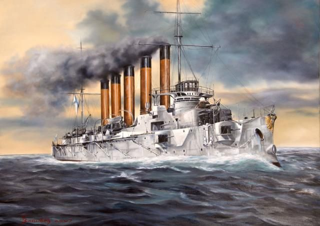 Cruiser ASKOLD - Imperial Russian Navy - Battle of Port Arthur