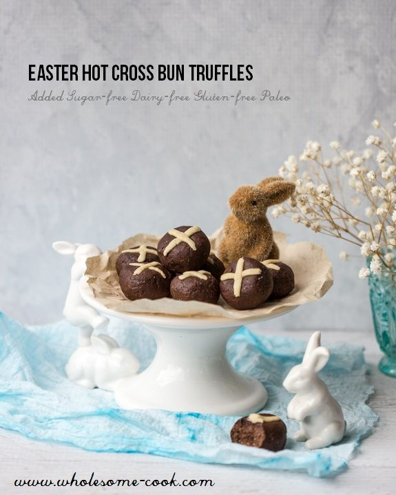 123 best easter images on pinterest easter gift bed bath and added sugar free hot cross bun truffles negle Image collections