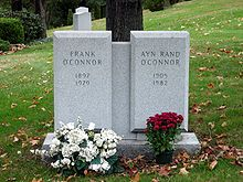 Gravemarker for Ayn Rand O'Connor & husband